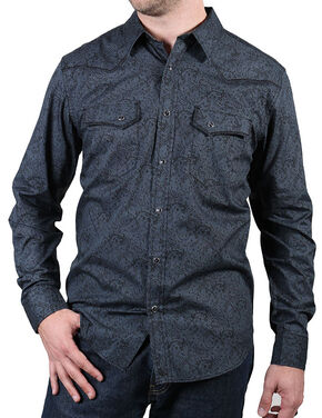 Cody James Men's Gunsmoke Long Sleeve Shirt, Grey, hi-res