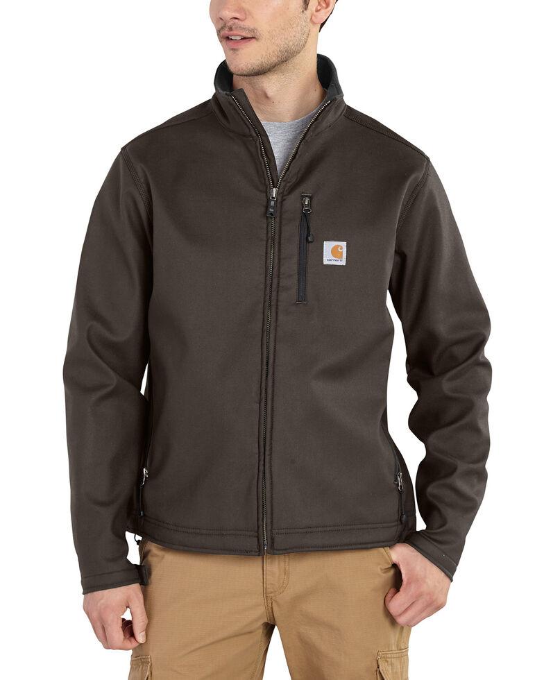Carhartt Men's Pineville Softshell Work Jacket - Big & Tall, Dark Brown, hi-res