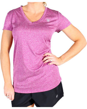 Ariat Women's Violina Laguna Short Sleeve Top, Violet, hi-res