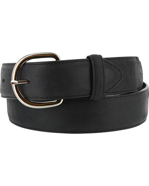 Cody James Men's Black Leather Belt, Black, hi-res