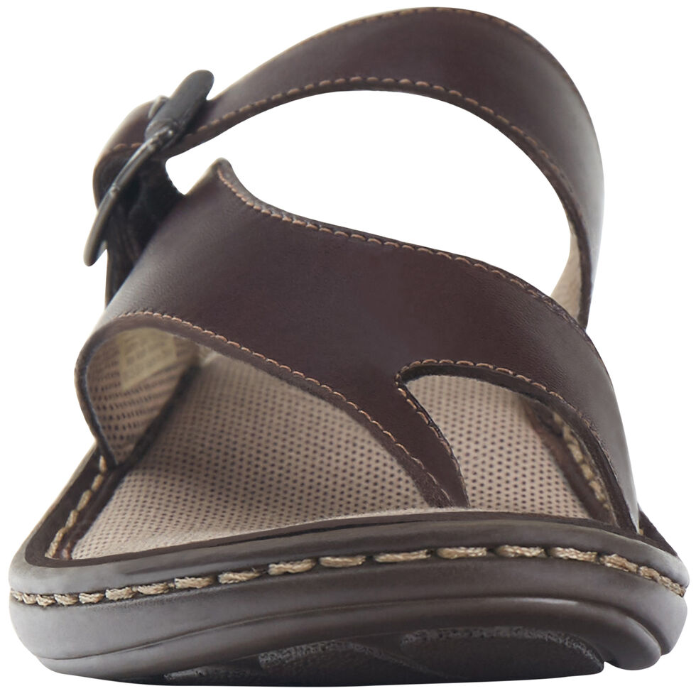 Eastland Women's Brown Townsend Thong Sandals , Brown, hi-res