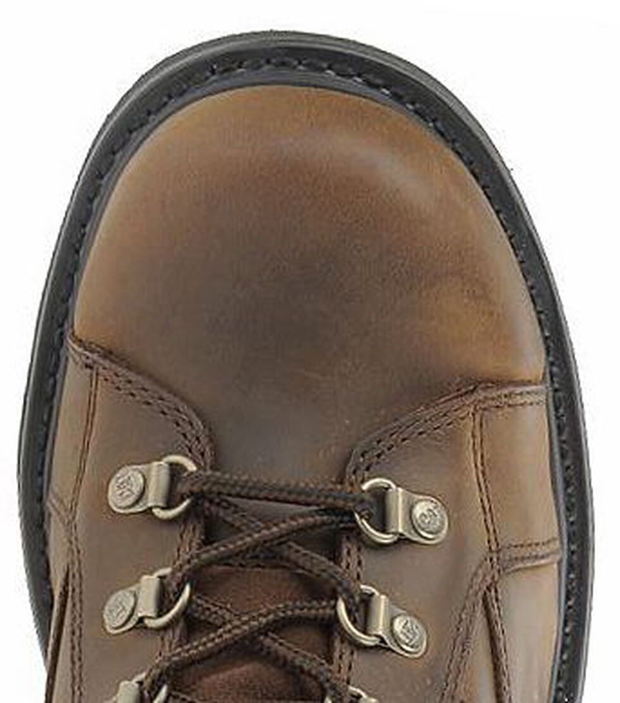 "Caterpillar 6"" Mortar Lace-Up Work Boots - Steel Toe, Dark Brown, hi-res"