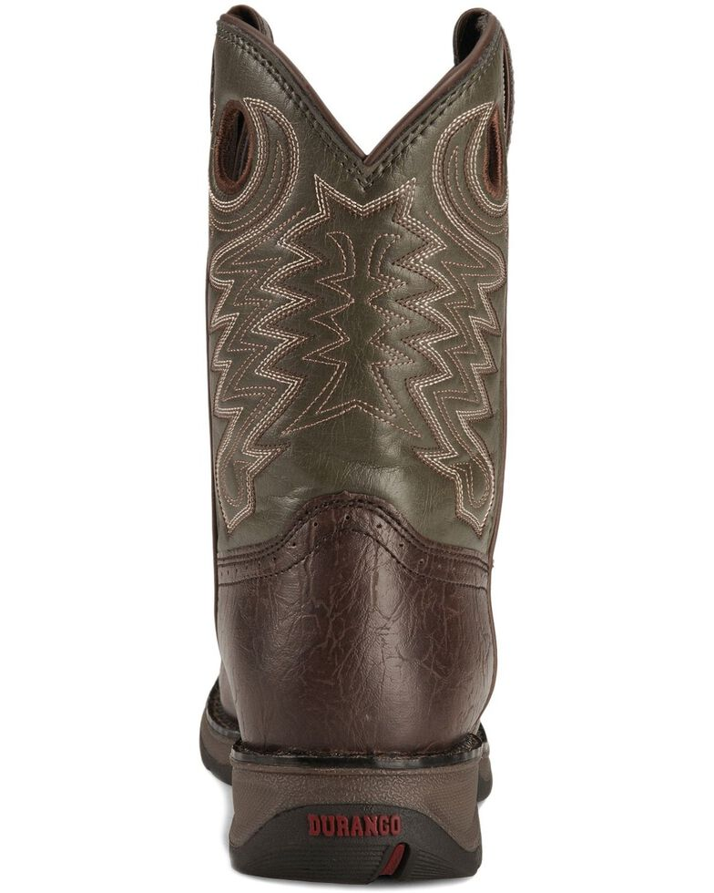 Durango Boys' Dark Brown Lil' Rebel Cowboy Boots, Dark Brown, hi-res