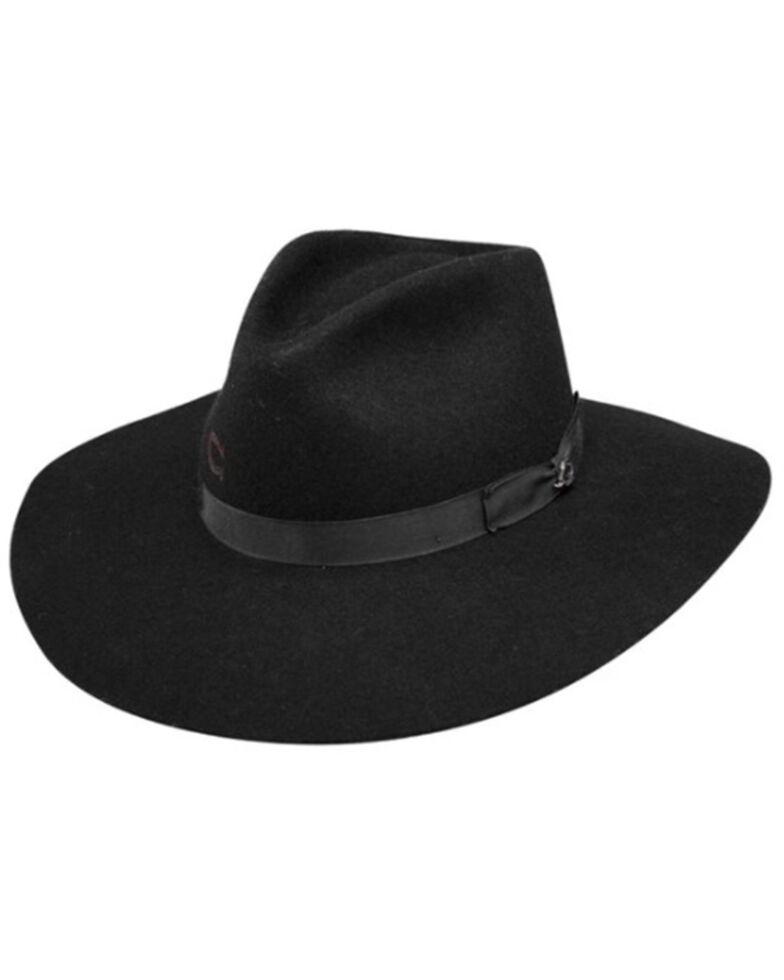 Charlie 1 Horse Kids Black Junior Highway Wool Felt Western Hat , Black, hi-res