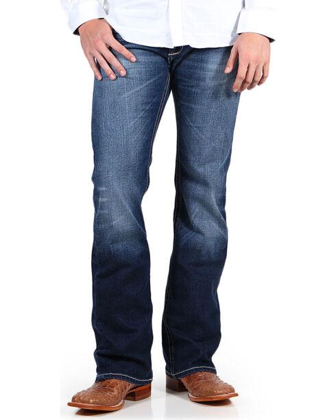 Ariat Men's Blue M7 Cooper Cadet Jeans - Boot Cut , Blue, hi-res
