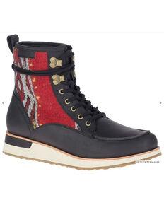 Merrell Women's Black Roam Lace-Up Boots - Moc Toe, Black, hi-res