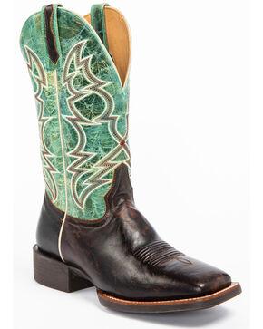 Cody James Men's Morgan Western Boots - Wide Square Toe, Brown, hi-res