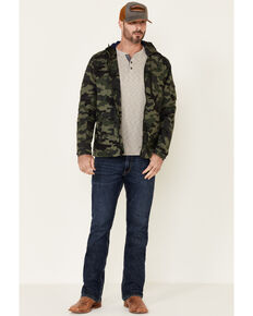 Flag & Anthem Men's Byron Camo Print Hooded Windbreaker Jacket , Green, hi-res