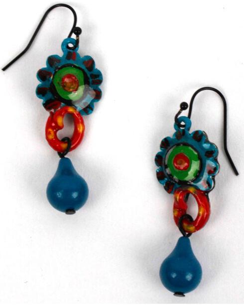 Treska Women's Linked Drop Earrings, Blue, hi-res