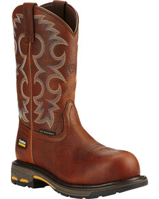 Ariat Women's Brown Workhog Cowgirl Work Boots - Composite Toe  , Brown, hi-res