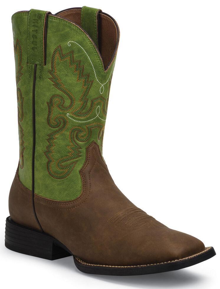 3ec0de2e6b3 Justin Farm and Ranch Men's Synthetic Cowboy Boots - Wide Square Toe