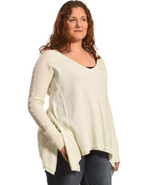 Angel Premium Women's Tandie Top - Plus, Cream, hi-res
