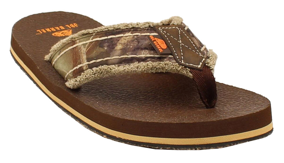 Double Barrel Men's Mossy Oak Strap Flip Flops, , hi-res