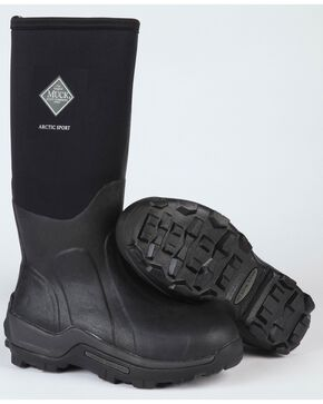 Muck Men's Black Arctic Sport Hi Boots, Black, hi-res