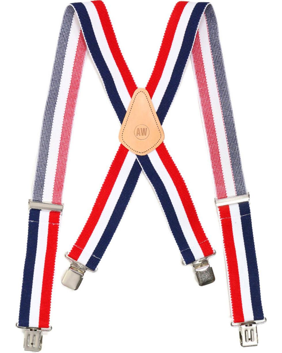 American Worker® Men's Suspenders , Red/white/blue, hi-res