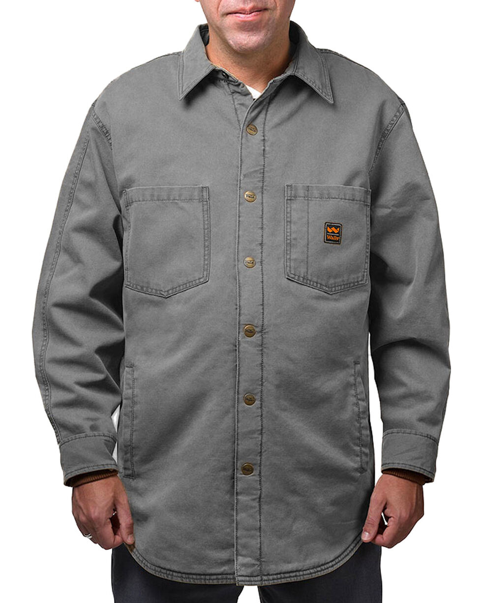 Walls Men's Bandera Vintage Duck Shirt Jacket - Tall, Grey, hi-res