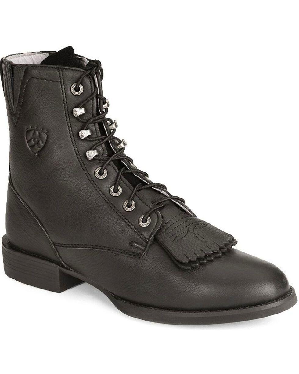 Ariat Women's Heritage II Lacer Boots, Black, hi-res