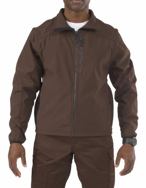 5.11 Valiant Softshell Jacket, Brown, hi-res