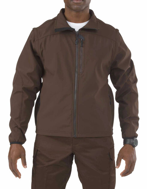 5.11 Tactical Valiant Softshell Jacket - 3XL-4XL, Brown, hi-res