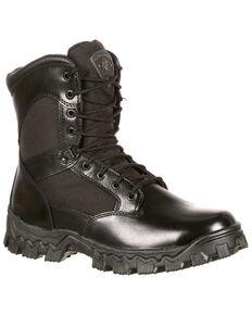 Rocky Women's AlphaForce Waterproof Duty Boots - Round Toe, Black, hi-res