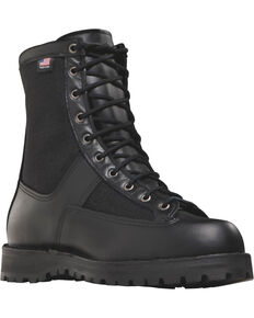 "Danner Men's Black Acadia 8"""" Uniform Boots - Round Toe , Black, hi-res"