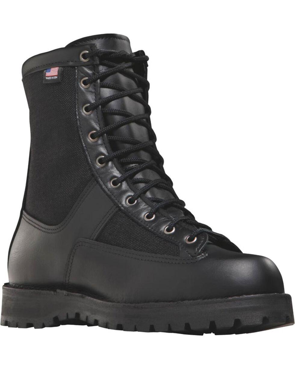 "Danner Men's Black Acadia 8"""" Uniform Boots - Round Toe , Black, hi-res"