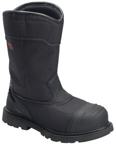 Avenger Men's Hammer Waterproof Western Work Boots - Carbon Toe, Black, hi-res