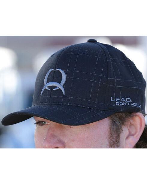 Cinch Men's Flex Fit Plaid Ball Cap, Black, hi-res