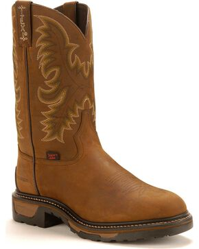 Tony Lama TLX  Waterproof Work Boots, Tan, hi-res