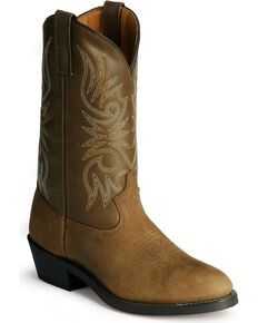 Laredo Men's Cowboy Work Boots, Distressed, hi-res