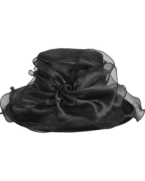 Betmar Women's Mavis Bow and Wide Brim Derby Hat, , hi-res