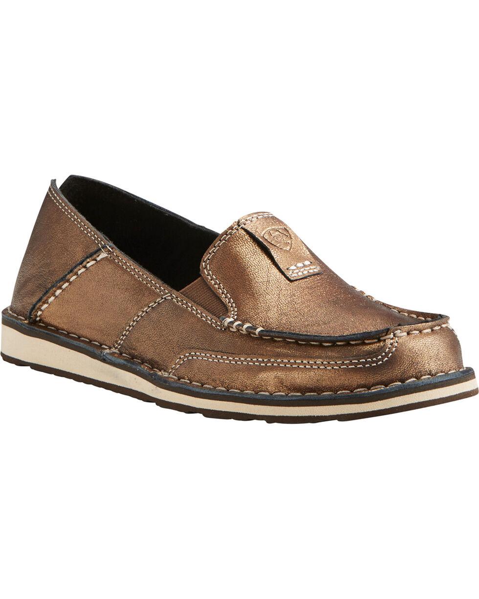 Ariat Women's Metallic Bronze Cruiser Shoes - Moc Toe, Gold, hi-res