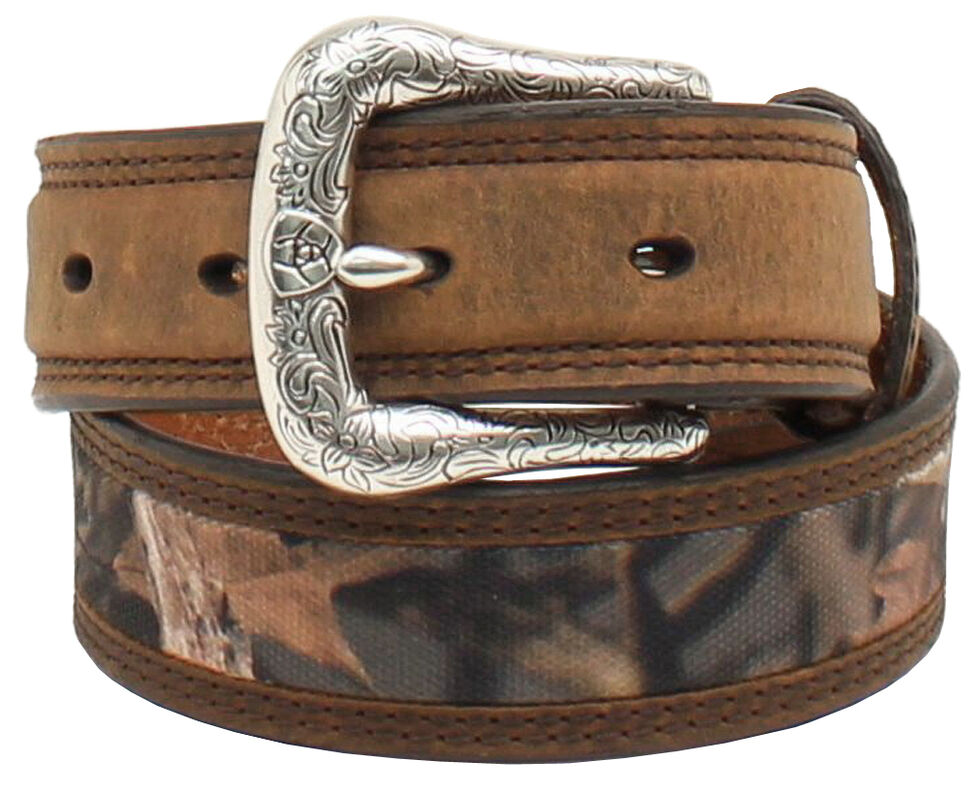 Ariat Boys Camo Canvas Belt, Camouflage, hi-res