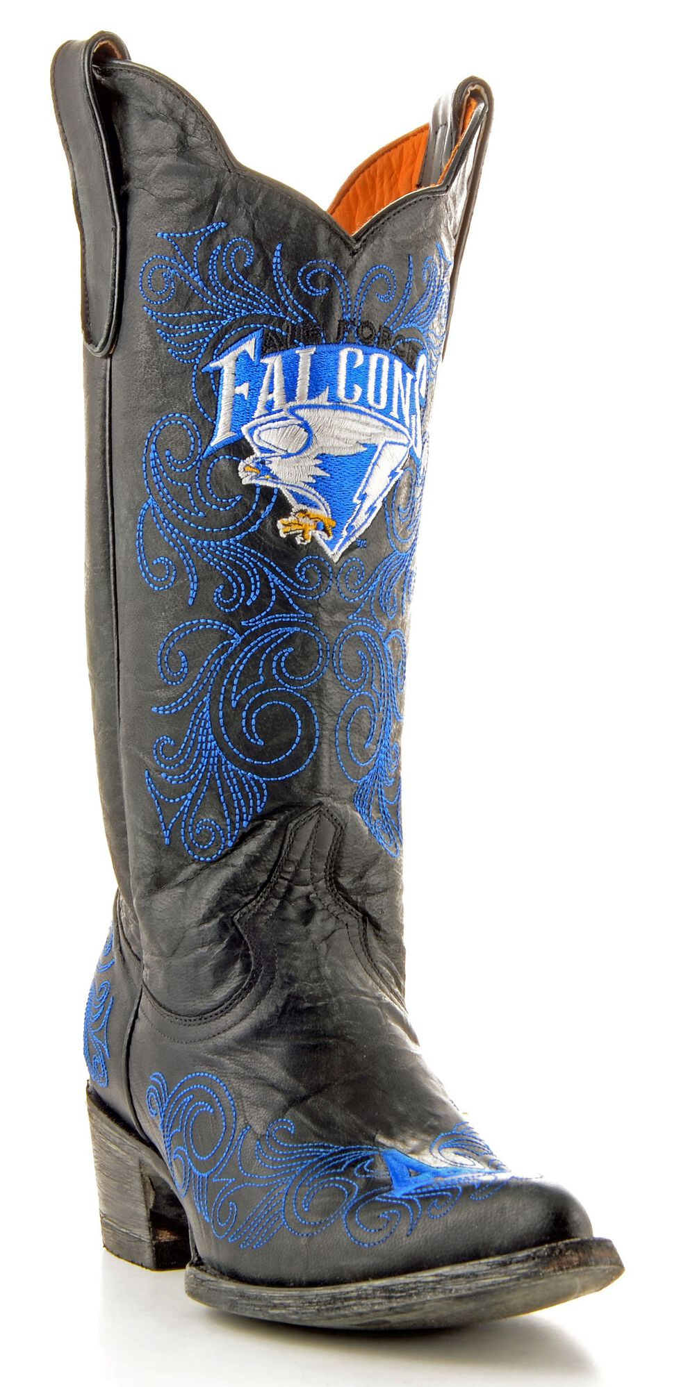 Gameday United States Air Force Academy Cowgirl Boots - Pointed Toe, Black, hi-res