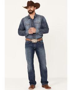 Ariat Men's M5 Travis Dark Wash Stretch Straight Leg Jeans , Blue, hi-res