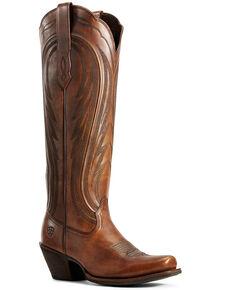 Ariat Women's Abilene Copper Western Boots - Snip Toe, Brown, hi-res