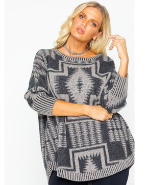 Pendleton Women's Harding Oversized Pullover, Black, hi-res