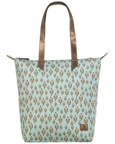 Ariat Women's Cactus Cruiser Tote Bag, Turquoise, hi-res