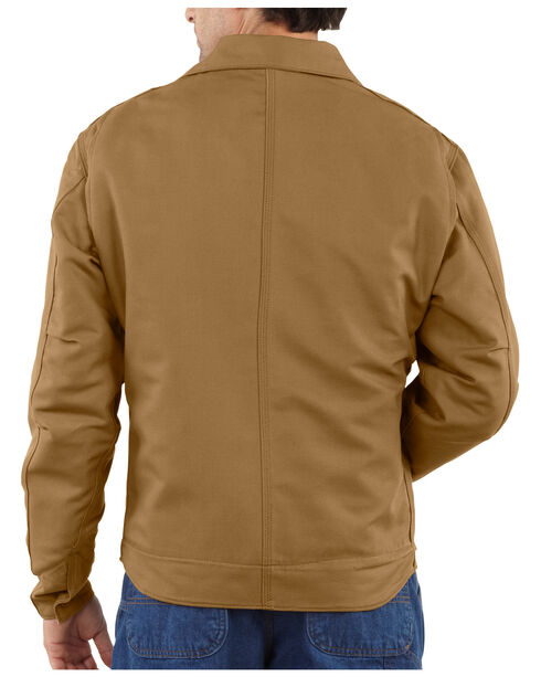 Carhartt Men's Flame-Resistant Canvas Dearborn Jacket - Big & Tall, Carhartt Brown, hi-res