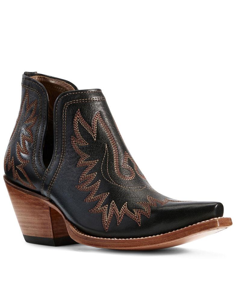 Ariat Women's Dixon Brooklyn Fashion Booties - Snip Toe, Black, hi-res