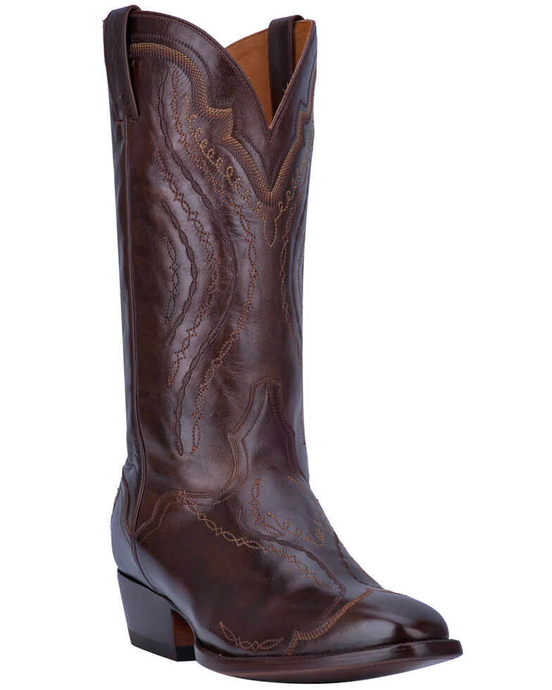 El Dorado Men's Handmade Antique Walnut Cowboy Boots - Square Toe, Brown, hi-res