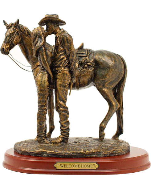 """Western Moments """"Welcome Home"""" Statue, Brown, hi-res"""