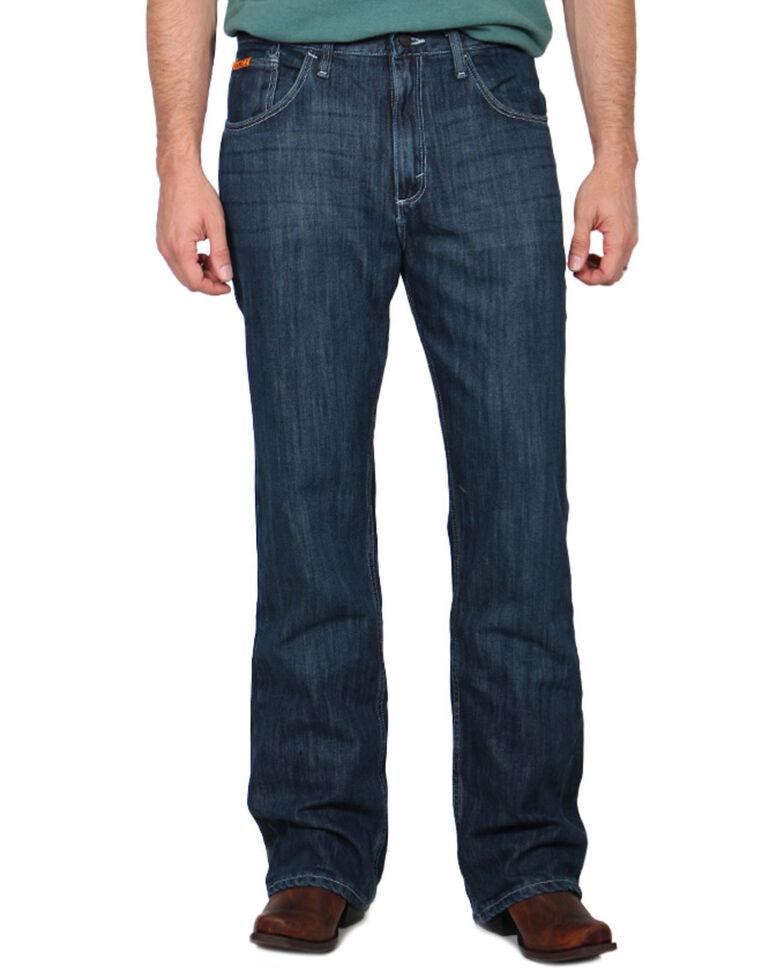 Wrangler 20X Men's 42 Vintage Bootcut Flame-Resistant Work Jeans, Denim, hi-res