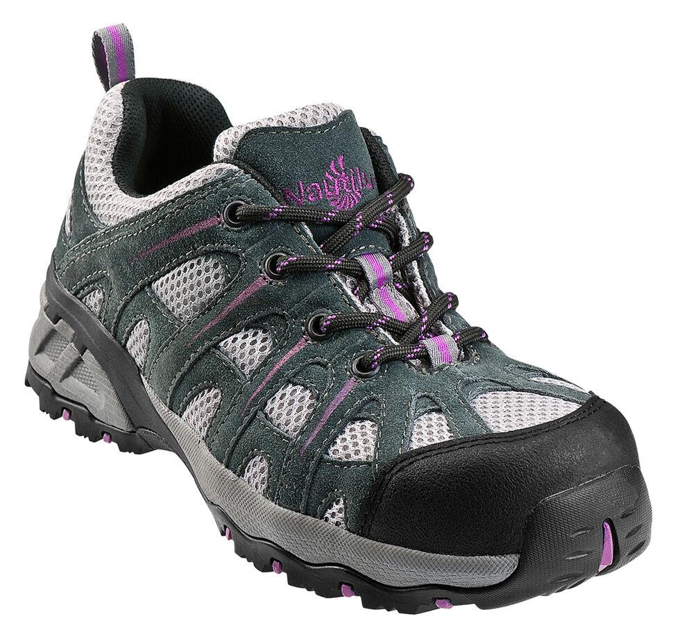 Nautilus Women's Suede Leather Athletic Work Shoes - Composite Toe, Grey, hi-res