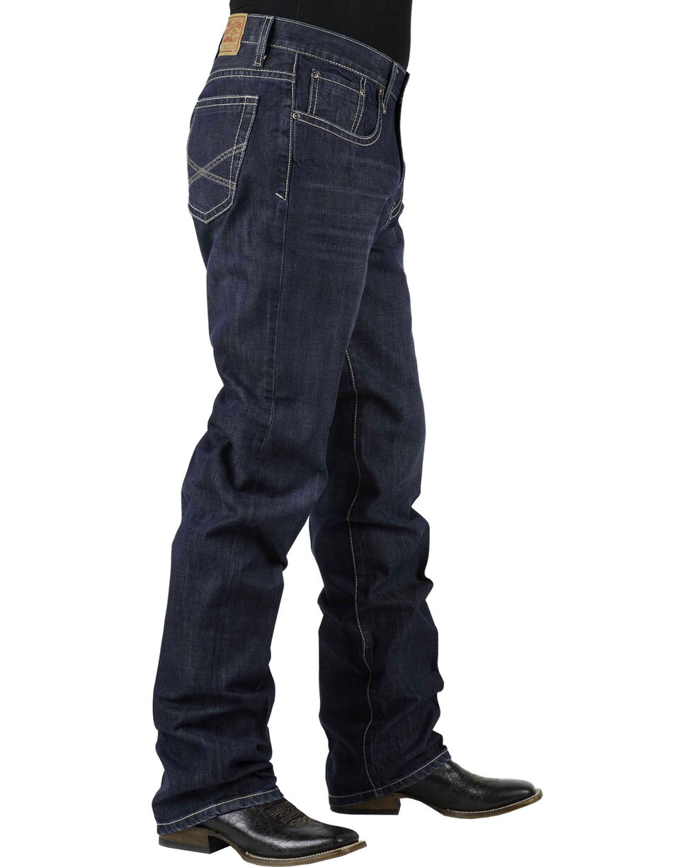 Stetson 1520 Classic Fit With Embroidery Jeans - Boot Cut - Big and Tall, , hi-res