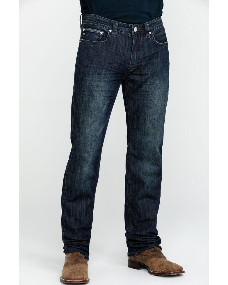 Rock & Roll Cowboy Men's Small V Reflex Revolver Slim Straight Jeans , Blue, hi-res