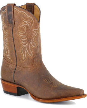 Shyanne® Women's Embroidered Western Boots - Snip Toe , Brown, hi-res
