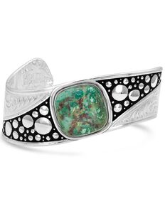 Montana Silversmiths Make Some Waves Turquoise Cuff Bracelet, Silver, hi-res