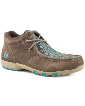 Roper Women's Brown High Country Diamond Chukka Shoes , Brown, hi-res