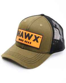 Hawx Men's Olive Logo Patch Mesh-Back Ball Cap , Olive, hi-res